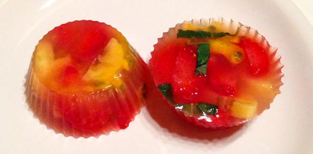 Le Monde dans l'Assiette – Salade de fruits en gelée de thé vert