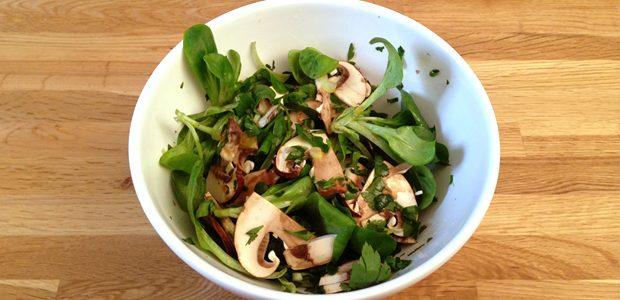 salade de mâche japonisante